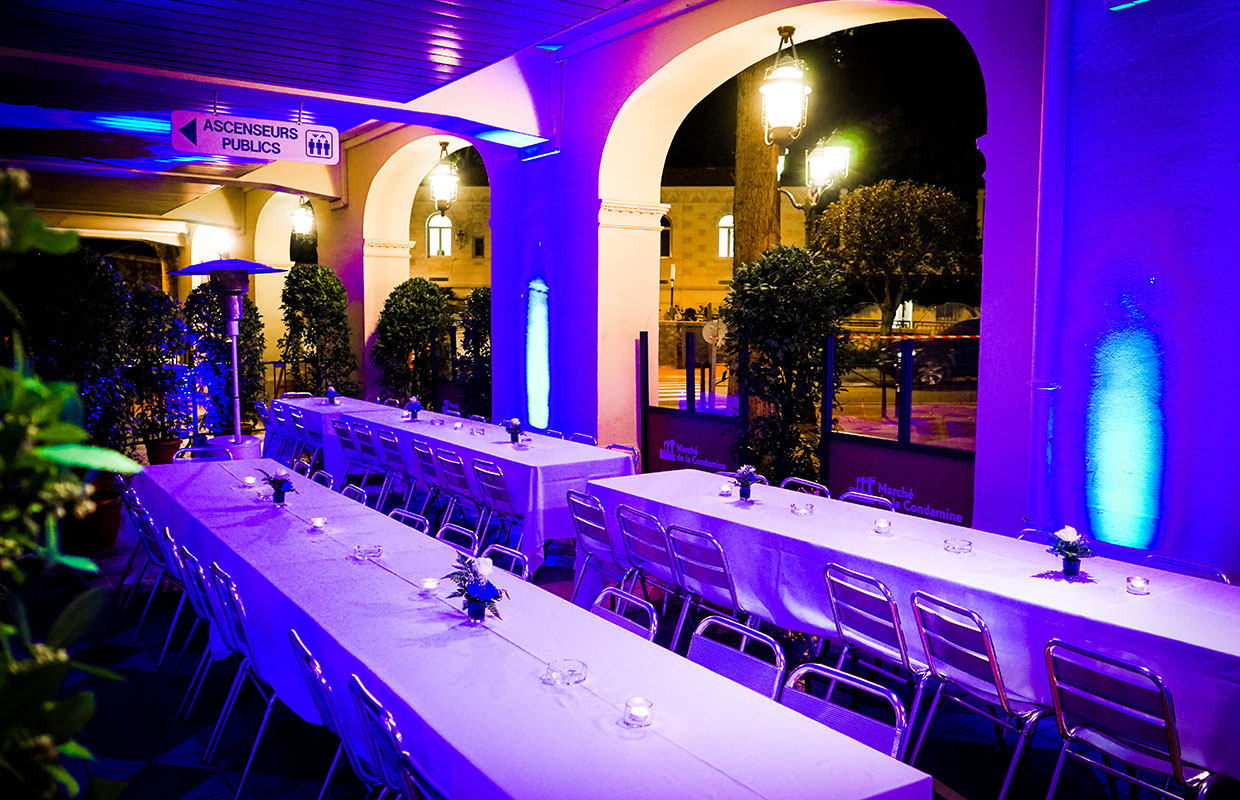 RMES Monaco Services | Organisation of event at the Monaco Condamine Market.