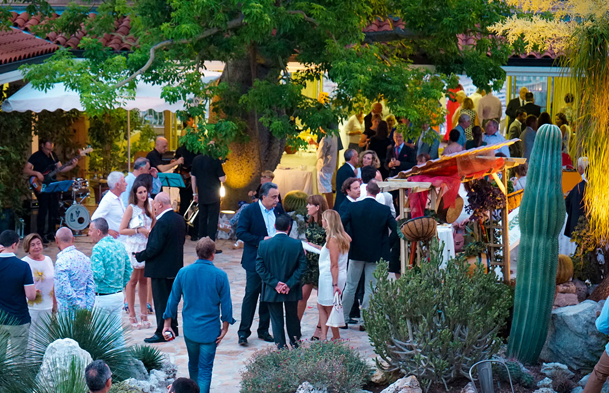 Monaco Exotic Garden | Organisation of events by RMES Monaco Services